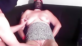First BDSM  training granny Linda 55