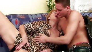 Horny Mature Woman Gives a Blowjob