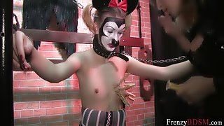 FrenzyBDSM Mature Domina and Sadistic Clamps Play