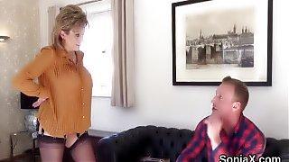 Unfaithful british mature lady sonia shows off h
