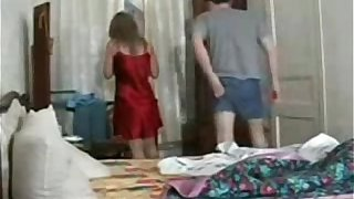 russian boy forced mom to fuck and swallow cum