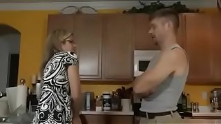 Cory Chase in SON FUCKS STEPMOM IN THE Kitchen