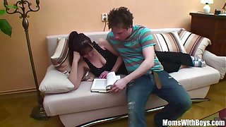 Freckle Bodied Mama Martina Doggystyle Couch Fucked
