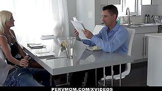 PervMom - Mature Milf Rubs Stepsons Cock