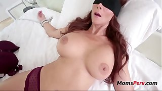 Son Tricks Fucks BUsty Brunette MOM-Syren De Mer