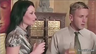 Hot MILF Mother Seduce Friend of her not son to Fuck