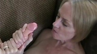 Toying And Swallowing Cum