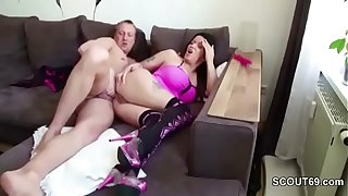 Step-Son Caught German MILF Mom and Fuck her Anal