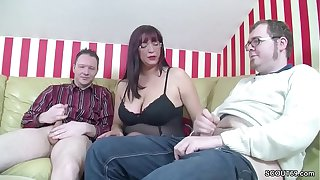 German Step-Mom Teach two Young Boys How to Fuck Right