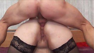 BBW mom anal with boy