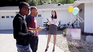 BLACKS ON MOMS - Realtor Chanel Preston Takes Big Black Dick In Her Ass During Open House