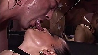 Brunette MILF Sexy Stockings Ass Fingered Pussy Fucked