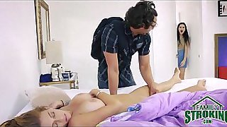 Fucking whore fucked her step-brother
