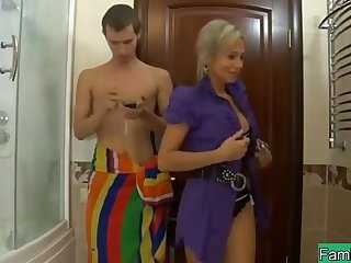 mom want son fuck in bathroom
