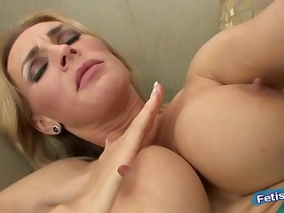 Mother masturbates and then goes fuck her son